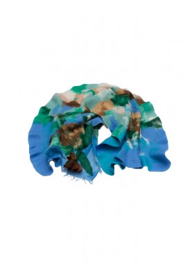 Sal din lana impaslita , handmade , unicat, Irisul