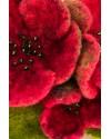 Colier lana impaslita, unicat, handmade, Flori Cires