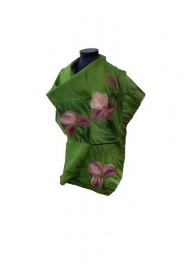 Esarfa lana impaslita,handmade, unicat, Campul de Irisi