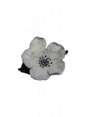 Brosa din lana impaslita, unicat,, handmade,  Floarea Muntelui