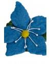 Brosa din lana impaslita, unicat, handmade,  Floarea De-Nu-Ma-UIta