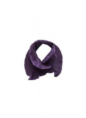 Esarfa si manusi din lana impaslita,  handmade, unicat, Mov-Indigo