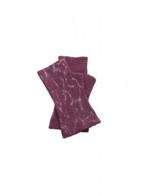 Manusi fara degete,  din lana impaslita handmade, unicat, Plaminiu marmorat